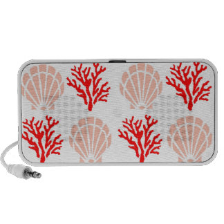 Sea Shells and Coral Doodle iPhone Speaker