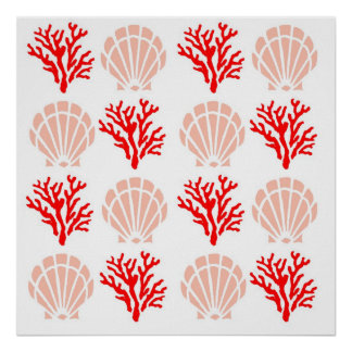 Sea Shells and Coral Poster