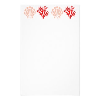 Sea Shells and Coral Stationery