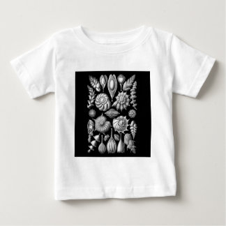 Sea Shells and Fossils in Black and White 1 Baby T-Shirt