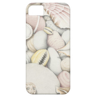 Sea Shells and Pebbles in Coloured Pencil iPhone SE/5/5s Case