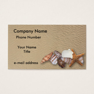 Sea Shells and Sandy Beach Business Card