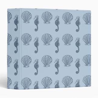 Sea Shells and Sea Horses 3 Ring Binder