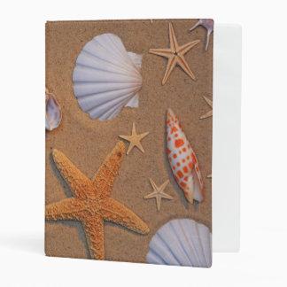 Sea Shells And Starfish Arranged On Sand Mini Binder