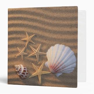 Sea Shells And Starfish Binder