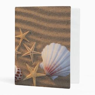 Sea Shells And Starfish Mini Binder