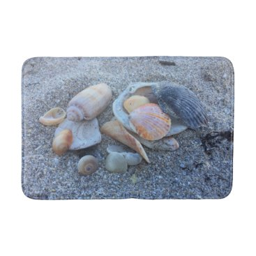 Beach Themed Sea Shells and The Beach Bath Mat