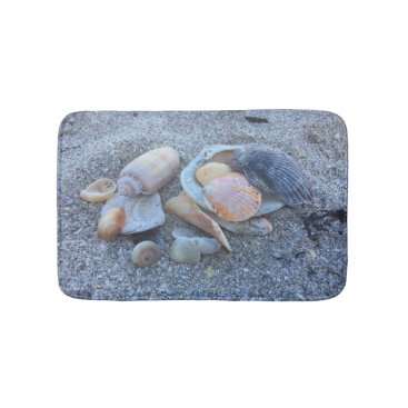 Beach Themed Sea Shells and The Beach Bathroom Mat