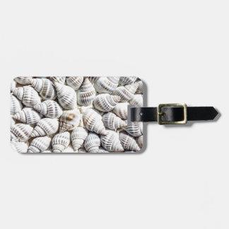 sea shells bag tag