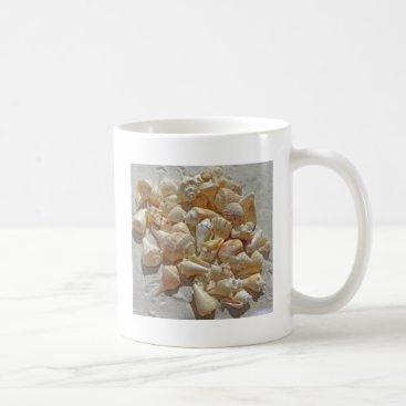Beach Themed sea-shells bg coffee mug