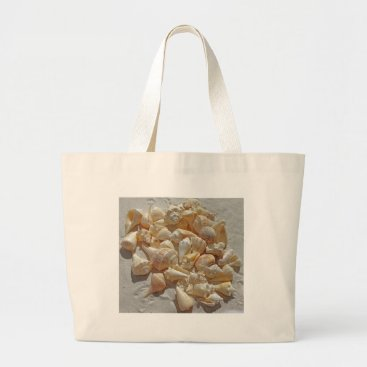 Beach Themed sea-shells bg large tote bag