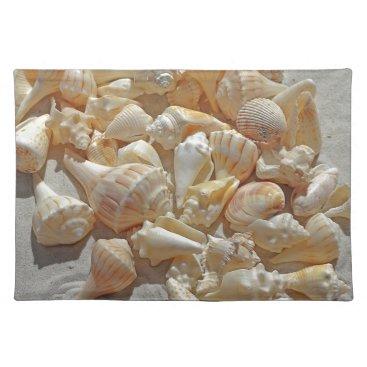 Beach Themed sea-shells bg placemat
