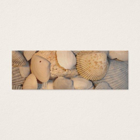 Sea Shells Bookmark Mini Business Card