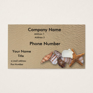 Sea shells business card