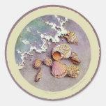 SEA SHELLS by SHARON SHARPE Classic Round Sticker