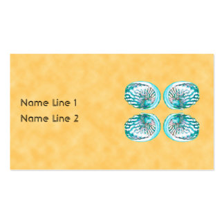 Sea Shells Design, Turquoise and Yellow. Business Card Templates