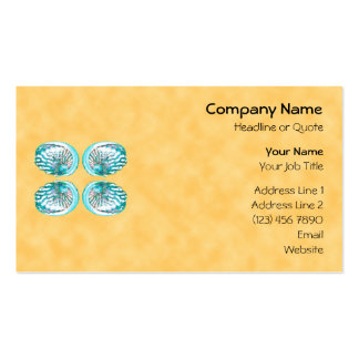Sea Shells Design, Turquoise and Yellow. Business Card