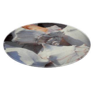 Sea Shells in sunlight and shadow Cutting Board