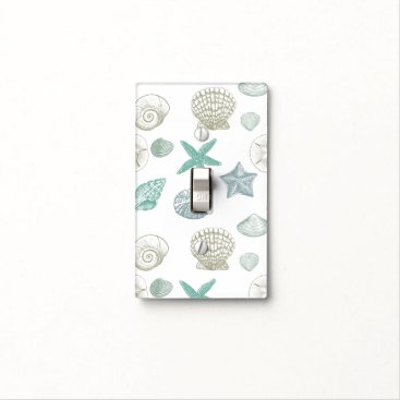 Beach Themed Sea Shells Light Switch Cover