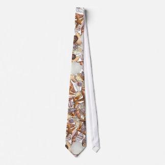 Sea shells neck tie