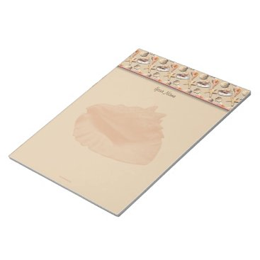 Beach Themed Sea Shells on Beach Sand Notepad