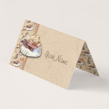 Sea Shells on Beach Sand Place Card