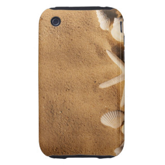 Sea shells on sand tough iPhone 3 cover