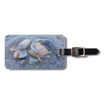 Beach Themed Sea Shells Paradise Beach Bag Tag
