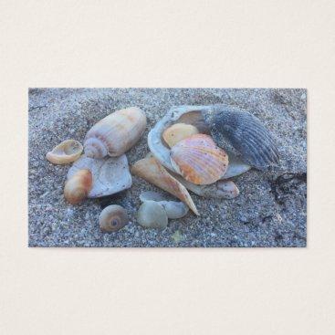 Beach Themed Sea Shells Paradise Beach Business Card