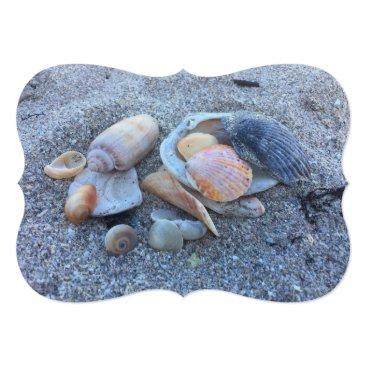 Beach Themed Sea Shells Paradise Beach Card
