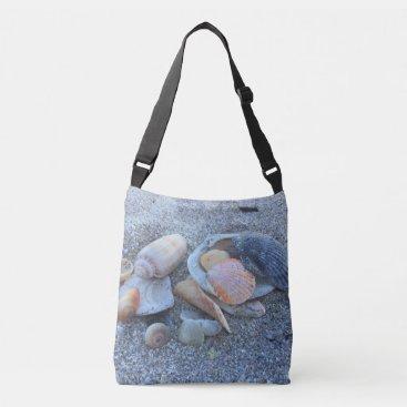 Beach Themed Sea Shells Paradise Beach Crossbody Bag