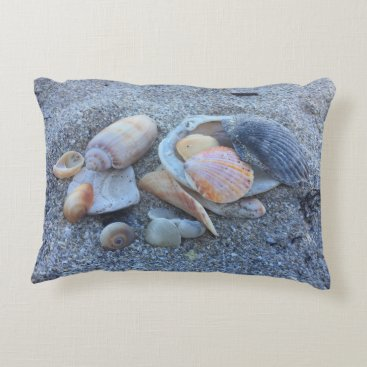 Beach Themed Sea Shells Paradise Beach Decorative Pillow