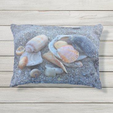 Beach Themed Sea Shells Paradise Beach Outdoor Pillow