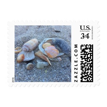 Beach Themed Sea Shells Paradise Beach Postage