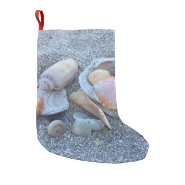 Beach Themed Sea Shells Paradise Beach Small Christmas Stocking