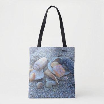 Beach Themed Sea Shells Paradise Beach Tote Bag