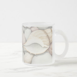 Sea Shells & Pebbles 296 ml  Frosted Glass Mug