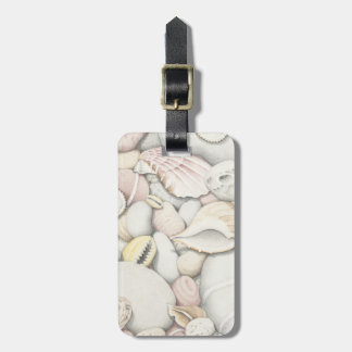 Sea Shells & Pebbles Luggage Tag w/ leather strap