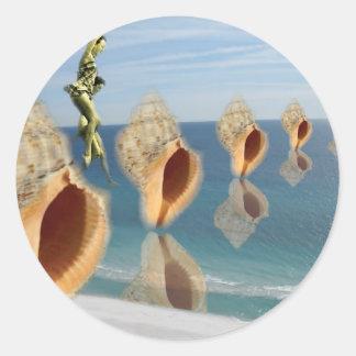 Sea Shells She Sells Classic Round Sticker