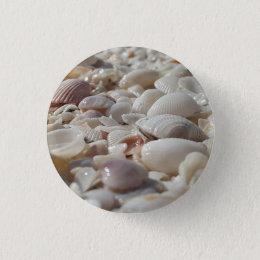 Sea Shells Small, 1¼ Inch Round Button