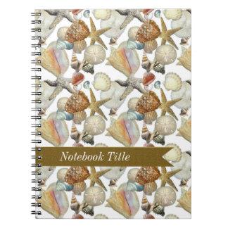 Sea Shells Starfish Beach Journal Notebook