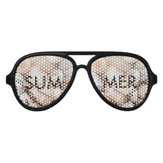 Sea Shells, Summer Beach Exotic Tropical Romantic Aviator Sunglasses