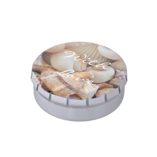 Sea Shells, Summer Beach Exotic Tropical Romantic Jelly Belly Tins