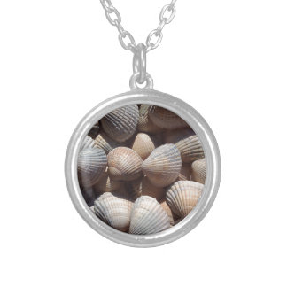 Sea Shells, Summer Beach Exotic Tropical Romantic Silver Plated Necklace