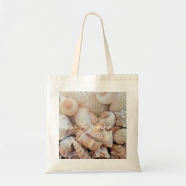 Beach Themed Sea Shells, Summer Beach Exotic Tropical Romantic Tote Bag