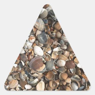Sea shells triangle sticker