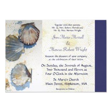 JoinedHearts Sea Shells Wedding Invitation