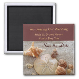 Sea Shells Wedding Save the Date Magnet