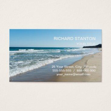 Beach Themed Sea shore business card