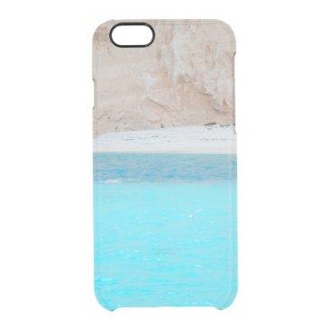 Beach Themed sea shore. Greece Clear iPhone 6/6S Case